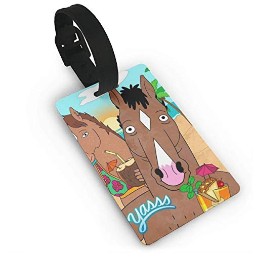 BoJack Beach Luggage Tag Adjustable Strap Bag Baggage Name,Accessories Tags for Tourists