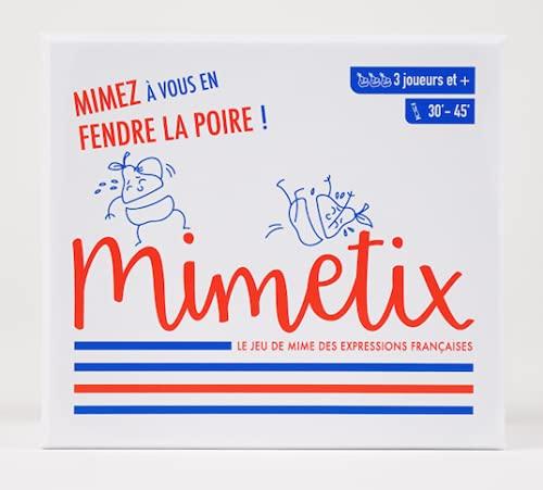 MIMETIX - Le Jeu de Société de Mimes des Expressions Françaises - Jeu d'Ambiance pour Apéros & Soirées entre Adultes : Amis, Famille ou Collègues - 240 Cartes - Cadeau original