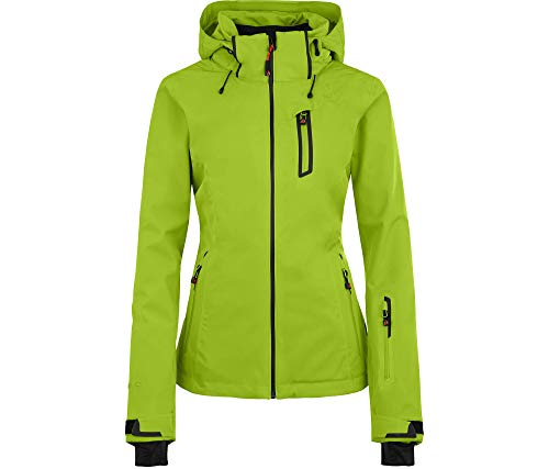 Bergson Damen Skijacke Nice Light, Lime Green [242], 38 - Damen