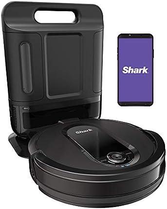 Shark IQ Robot Auto-Vacío XL RV1001AE, Aspiradora Robótica, Navegación IQ, Mapeo del Hogar, Cepillo Autolimpieza, Conexión Wi-Fi, Funciona con Alexa