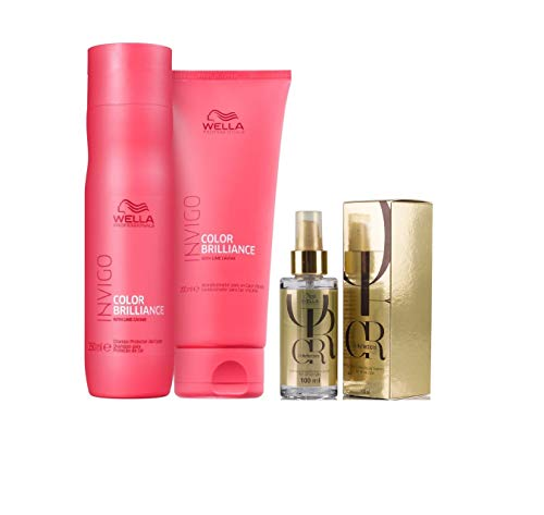 Kit Shampoo Condicionador Brilliance E Óleo Capilar Oil Reflections Wella Professionals