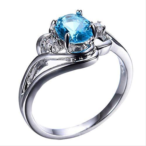 IWINO Cellacity zilveren 925 ringen Fö WomeFine Jeelry met edelstenen ovaal aquamarijn AAA ZircoHollow Carved Female verlovingsring