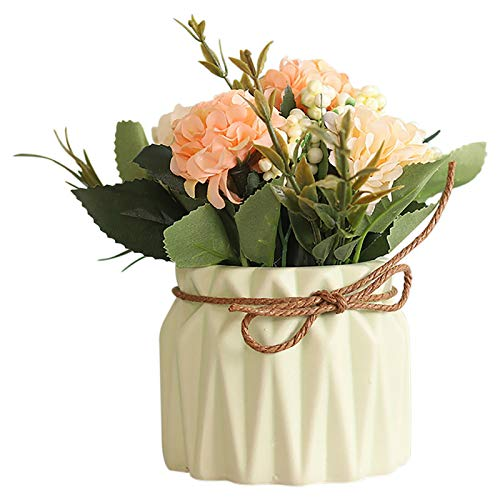 Qiujing Mother's Day Simulation Flower European-style Plant pot Ceramic Potted Desktop For Home Decoration