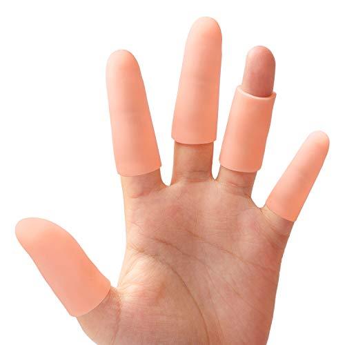 Protector dedos mano, 5 pares Protectores de dedos de gel, Ideal para Agrietamiento de dedos, Artritis de dedos y más, cojín tubos de alivio del dolor protectores - Sumifun