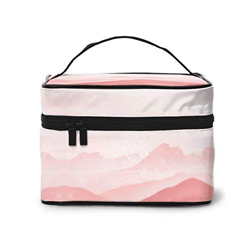 Planet Landing Roze Mountain Cloud Make-up Bag Reizen Toiletruimte BOX Draagbare Organizer Opslag Cosmetische Trein Case Voor Vrouwen Meisjes Eén maat Ontwerp 5