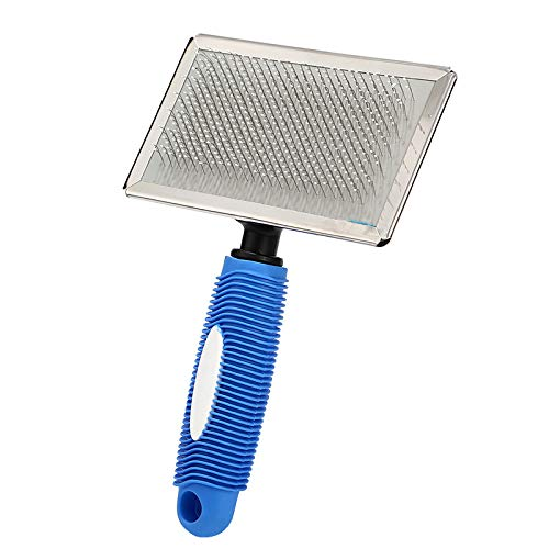 Pet Steel Needle Dematting Tool Knot Comb Grooming Tool for Dog Cat(Blue S)