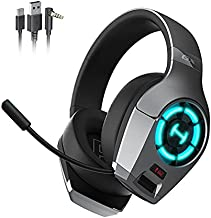 HECATE GX Hi-Res Gaming Headset for PS4 PC Xbox One PS5 Controller, Edifier Wired Gaming Headphones with Microphone, RGB Lighting, ENC Noise Canceling, 50mm Driver-Grey