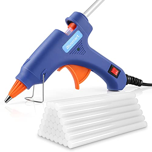 Hot Glue Gun, Blusmart Glue Gun with 30pcs Glue Sticks Upgraded Version, 20W Mini Hot Glue Gun Blue Fast Heating for DIY Craft Projects and Home Quick Repairs