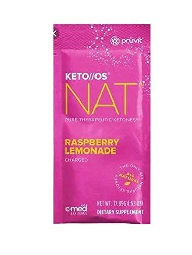 Pruvit Keto/OS NAT Raspberry Lemonade Charged(Keto OS NAT Raspberry Lemonade, 20 Sachets)