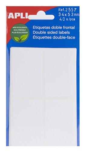 APLI 2557 - Etiquetas blancas doble frontal