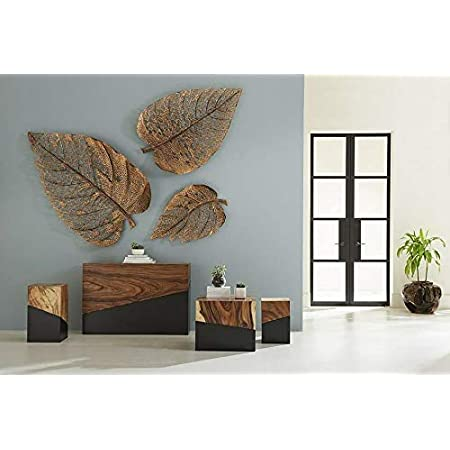 World Decor PAN Leaf Set of 3 [Size(in) Big(31) med(24) Small(18) ]