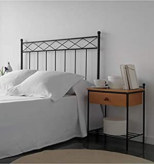 Cabecero de forja Trenza - Negro 27, Cabecero para colchón de 120 cm.