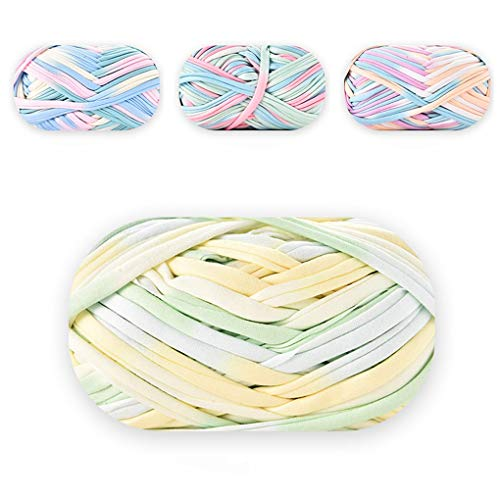 Rolin Roly Hilo de Tela Tejido de Punto y Croché Perfecto Colores Lisos Mini de Ganchillo Tejido de Punto Cualquier Proyecto Tejido de Punto y Croché (C 4PCS)
