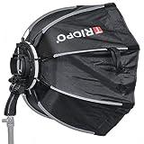 Impulsfoto Triopo MX-SK65 - Softbox para flashes (65 cm, iluminación suave, con inclinación de 180°)
