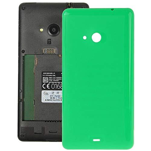 O-OBDO - Cover posteriore per porta del telefono, superficie smerigliata, in plastica, per Microsoft Lumia 535 (colore: verde)