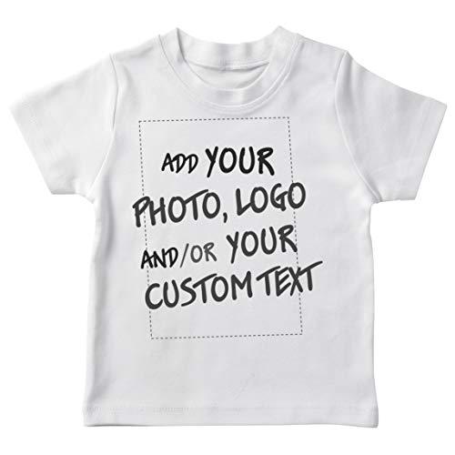 lepni.me Camiseta para Niño/Niña Regalo Personalizado, Agregar Logotipo de la Compañía, Diseño Propio o Foto (1-2 Years Blanco Multicolor)