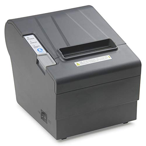 WeeiUs 80 MM  3'1/8 POS Thermal Receipt Printer USB Serial Ethernet/LAN Port Cashdrawer RS232 Auto Cutter Support Windows Mac ESC/POS