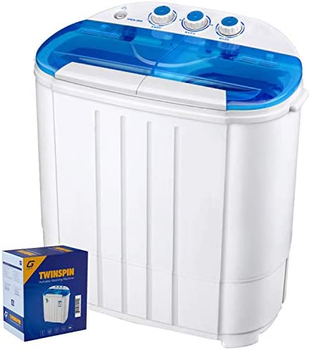 Garatic Portable Compact Mini Twin Tub Washing Machine w Wash and Spin Cycle Built in Gravity product image