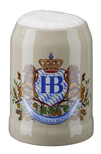 HB Hofbräuhaus München Boccale da Birra Tedesco Relief Monaco di Baviera Hofbräuhaus München HB 0,25 Litri King Werk Ki 1000061