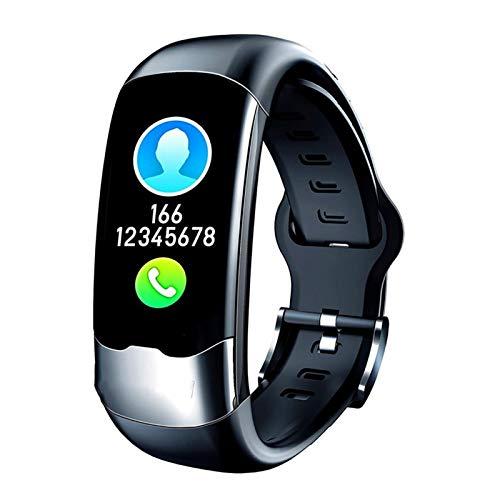 LXF JIAJU Nueva Pulsera Inteligente Reloj Deportivo Pulsera Inteligente USB Moda Impermeable Monitoreo De Ritmo Cardíaco Pulseras para Fitness Conjunto a (Color : Black)