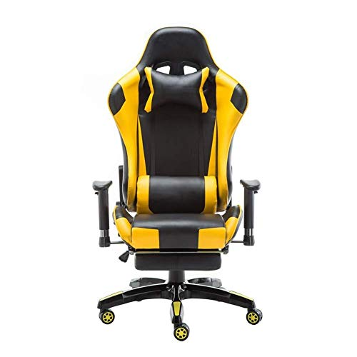 ZHHk Gaming Chair, Racing Gaming Chair, E-Sports Stuhl, Recliner, Gaming Stuhl, Computer Stuhl, Game Chair-Gelb (Color :...