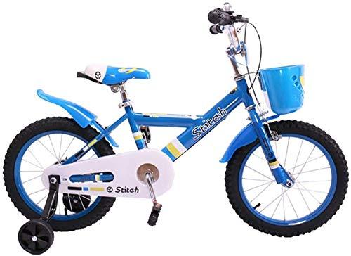 JHNEA Bicicletas Niños, Niño De La Bicicleta con Ruedas De Entrenamiento De Los Niños,12 14 16 Pulgadas para Las Edades De 2-8 Años Niñas Y Niños,Blue_12'