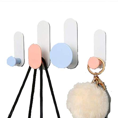 Handdoekenrek Sluit Hook Up Krachtige Adhesive-vrije Punch-free Muur Kleding Hook Naadloze Stickers slaapzaal Stick Hook Wall Hanger XXT (Kleur: B) (Color : A)