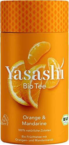 Yasashi Bio Tee | Bio Orange & Mandarine |fruchtig-süß | 100% natürliche Zutaten | 100% Bio Qualität | 100% recyclefähige Verpackung | 16 Pyramidenbeutel x 2,5g