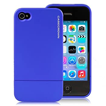 CaseCrown Apple iPhone 4 and 4S Polycarbonate Glider Case - Blue Sapphire (Fits AT&T, Sprint and Verizon iPhone 4 and 4S)