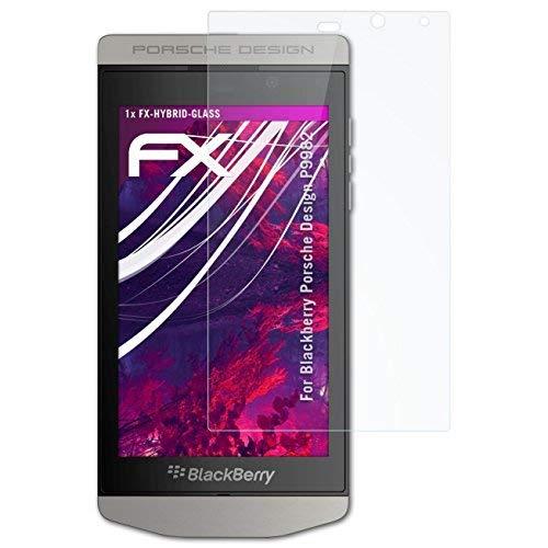 atFolix Glasfolie kompatibel mit BlackBerry Porsche Design P9982 Panzerfolie, 9H Hybrid-Glass FX Schutzpanzer Folie