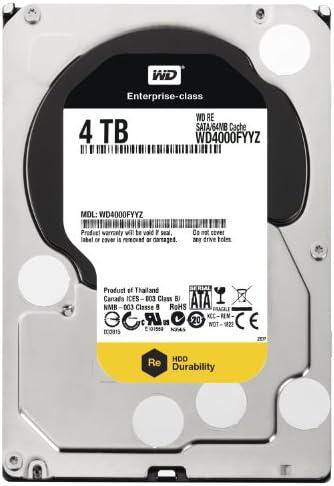 Western Digital 4TB 3.5 Inch SATA III, 7200 RPM, 64 MB Cache Enterprise Hard Drive (Western Digital4000FYYZ)