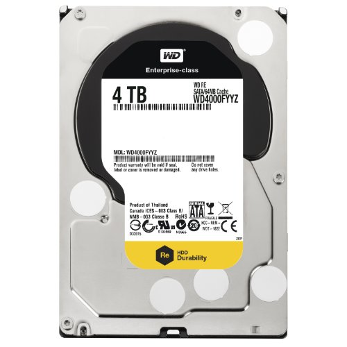 Western Digital WD4000FYYZ RE 4TB interne Festplatte (8,9 cm (3,5 Zoll), 7200rpm, 64MB Cache, SATA III)