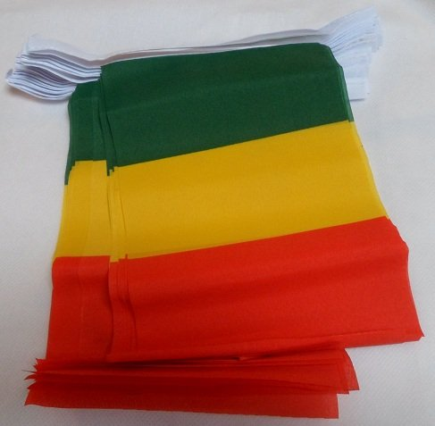 World of Flags 6 m Girlande mit 20 Flagge Guinea-Bissau