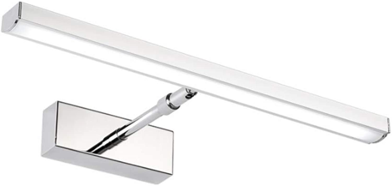 Haililais Spiegellampen LED-Spiegel-Scheinwerfer, moderner minimalistischer Edelstahl-LED-Spiegel-Scheinwerfer-einziehbares Badezimmer-Badezimmer-Spiegel-Kabinett beleuchtet Hyvaluable