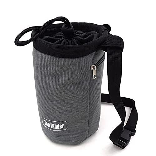 MOVKZACV Kletter-Kreidetasche mit verstellbarem Gürtel und Reißverschlusstaschen, Boulder-Kreide-Tasche für Klettern, Bouldern, Gewichtheben, Gymnastik