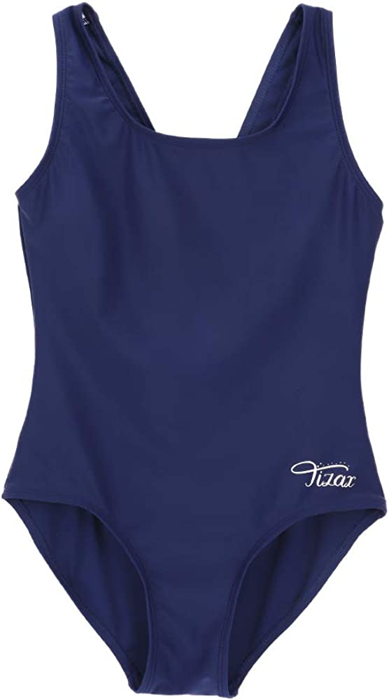 TIZAX Girls One Piece Swimsuit Soft Beach Bathing Suits Toddler Athletic Sports Swimsuit for Girls