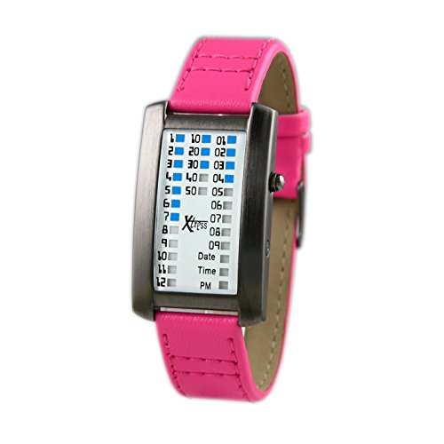 Xtress Reloj Binario para Hombre de Cuarzo con Correa en Cuero XDA1030F