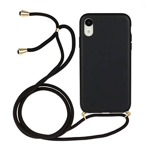 iPhone 11 Pro Max telefoonhoesje met ketting koordhouder snoep helder transparant zacht TPU cover met schouder hals koord riem beschermhoesje met voor iPhone 11 Pro Max iPhone 11 Pro Max Zwart