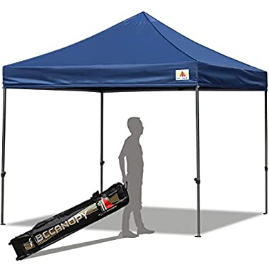 ABCCANOPY Pop up Canopy 10X10 Ft Commercial Instant Canopy Kit with Carrying Bag, 30+ Colors for Your Choice (Navy Blue)