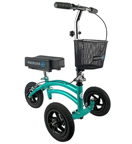 KneeRover Jr - Small Adult and Kids All Terrain Knee Scooter Crutches Alternative in Coastal Teal