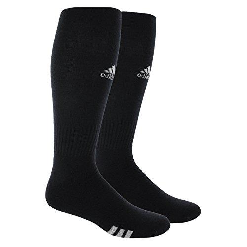 adidas Rivalry Field Multi-Sport Socks (2-Pack), Black/White, Medium