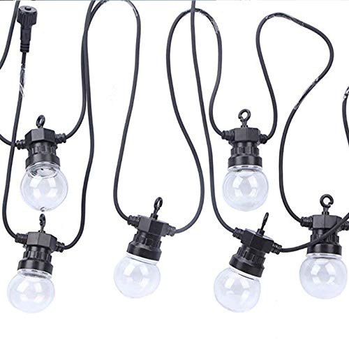 Outdoor String Lights,Commercial Grade Extendable Outdoor Lights with 40 Shatterproof G50 Bulbs, Weatherproof Outdoor Party Lights for Patio, Backyard, Bistro, Pergola Wedding holiday decoration