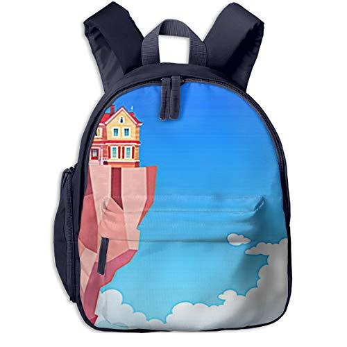 Kinderrucksack Kleinkind Jungen Mädchen Kindergartentasche Fliegendes Haus Cottage Backpack Schultasche Rucksack