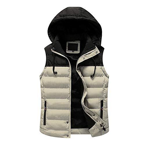 XFX1990 Plus Maat herfst mannen casual vest mode winter losse magische spreuk kleur parka mantel mouwloze jas mantel mannelijk dik warm CYL54