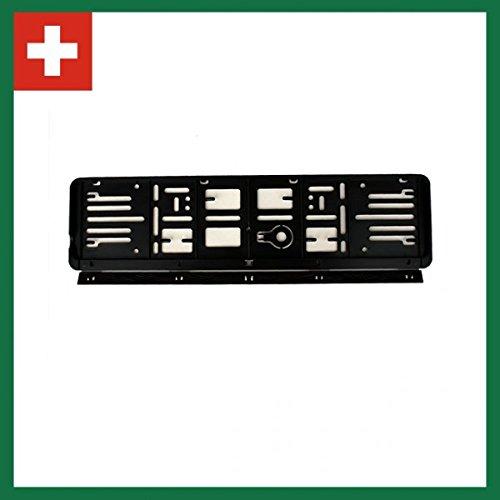 Wechsel-Kennzeichenrahmen-System 2er-Set Schweiz 80X300 u. 110X500 für 1 Kft! Schwarz