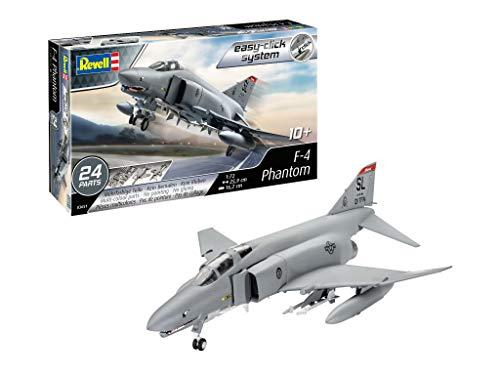 Revell 03651 F-4 Phantom (Easy-Click) Model Kit, Grey