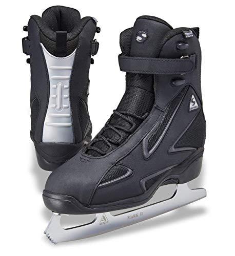 Jackson Ultima Softec Elite ST7002 Black Mens Ice Skates with MARK II blades, Size 10