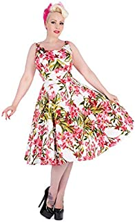003bb7aa8838 Hearts and Roses London White Pink Floral 1950s Vintage Summer Sun Party  Dress