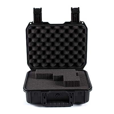 DAOE WT210 Crushproof Hard Pistol Gun Case with Pluckable Foam, 13'',TSA Approved