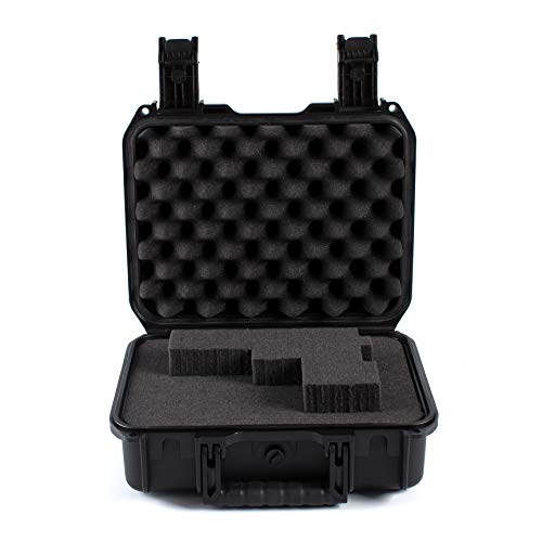DAOE WT210 Crushproof Hard Pistol Gun Case with Pluckable Foam, 13'',TSA Approved